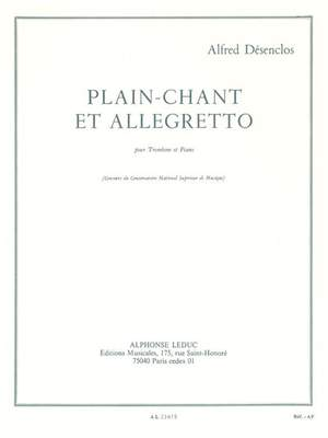 Alfred Desenclos: Plain-Chant Et Allegretto