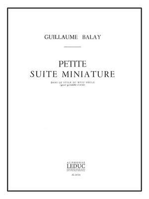Guillaume Balay: Petite Suite Miniature Dans Le Style Du 18 Siècle