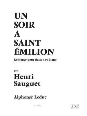 Henri Sauguet: Soir A Saint Emilion