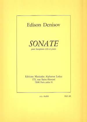 Edison Denisov: Sonata For Alto Saxophone And Piano