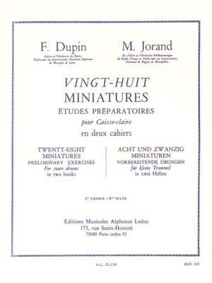 François Dupin_Marcel Jorand: 28 Miniatures - 2e Cahier - Nos 16 à 28