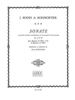 Joseph Bodin de Boismortier: Sonate Op.34, No.3 en 4 Parties...