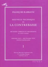 François Rabbath: Nouvelle Technique de la Contrebasse, Cahier 1