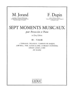Marcel Jorand_François Dupin: 7 Moments musicaux 3 - Valse