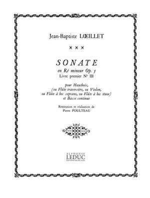 Jean-Baptiste Loeillet: Sonate Op.5, No.3 in D minor