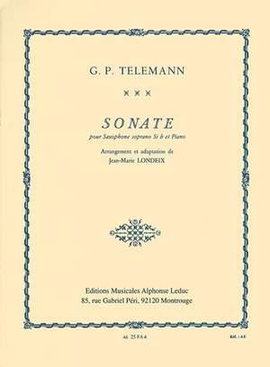 Georg Philipp Telemann: Sonata For Soprano Saxophone And Piano