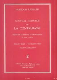 François Rabbath: Nouvelle Technique de la Contrebasse, Cahier 2