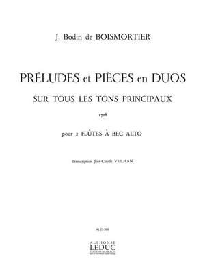 Joseph Bodin de Boismortier: Preludes et Pieces en Duos