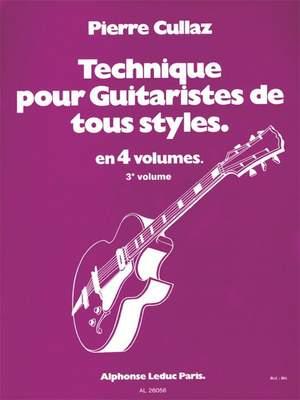 Pierre Cullaz: Technique Pour Guitaristes de Tous Styles  Vol 3