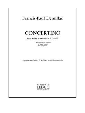 Demillac: Concertino -Fl.Et Orch.Strings