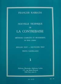 François Rabbath: Nouvelle Technique de la Contrebasse, Cahier 3