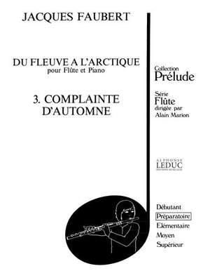 Jacques Faubert: Jacques Faubert: Complainte dAutomne