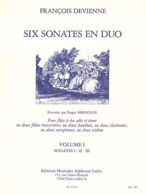 François Devienne: François Devienne: 6 Sonates en Duo Vol.1