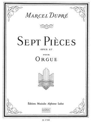 Marcel Dupré: Sept Pieces Op.27 Product Image