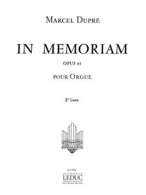Marcel Dupré: In Memoriam Op.61 Volume 2 Product Image