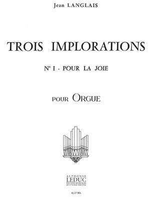 Jean Langlais: Jean Langlais: 3 Implorations No.1