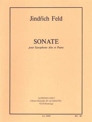 Jindrich Feld: Sonata for Alto Saxophone and Piano