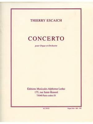 Thierry Escaich: Concerto -Orgue Et Orchestre