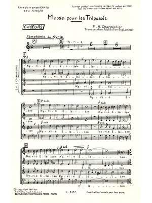 Marc-Antoine Charpentier: Messe Des Trepasses