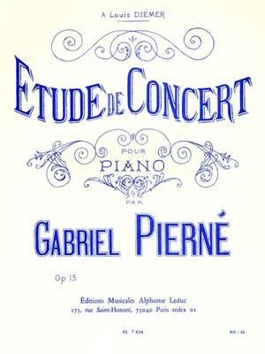 Pierne: Etude De Concert Op13