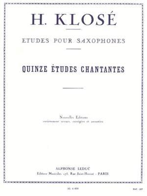 Hyacinthe-Eléonore Klosé: 15 Etudes Chantantes