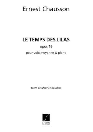 Chausson: Le Temps des Lilas Op.19, No.3 (mezzo)