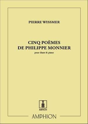Wissmer: 5 Poèmes de Philippe Monnier