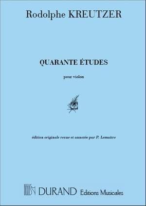 Kreutzer: 40 Studies (Original Edition)
