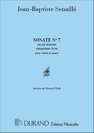 Senaillé: Sonate Livre 5, No.7 in E minor