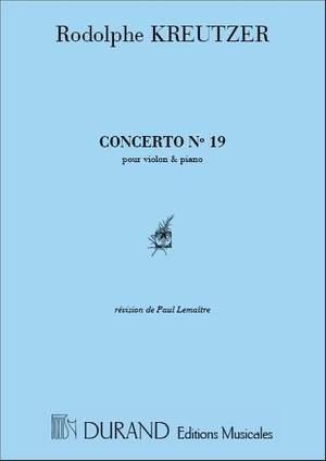 Kreutzer: Concerto No.19 in D minor (red. P.Lemaître)