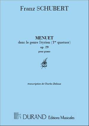 Schubert: Menuet Op.29, dans le Genre styrien