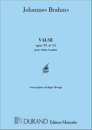 Brahms: Valse Op.39, No.15