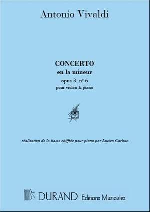 Vivaldi: Concerto FI/176 (RV356, Op.3/6) in A minor (red. L.Garban)