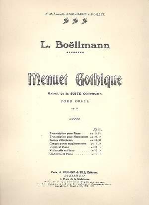 Boëllmann: Menuet gothique Op.25, No.2