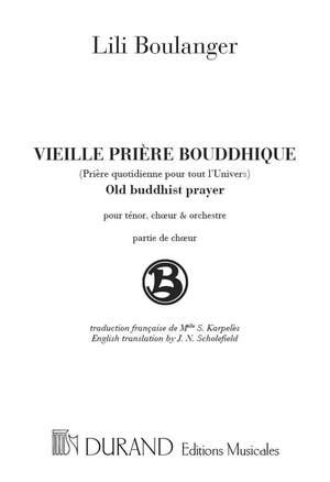 Boulanger: Vieille Prière bouddhique