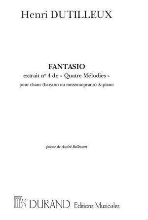 Dutilleux: 4 Mélodies No.4: Fantasio (med)