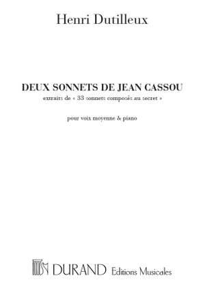 Dutilleux: 2 Sonnets de Jean Cassou