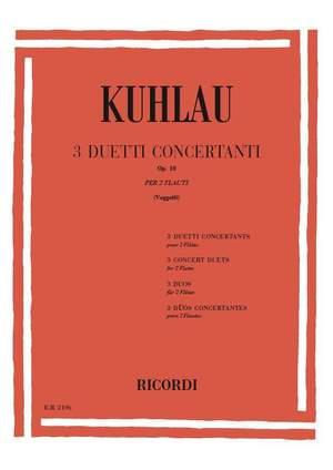 Kuhlau: 3 Duos concertants Op.10 (Ricordi) Product Image