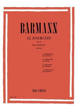 Baermann: 12 Exercises Op.30 (ed. L.Savina) Product Image