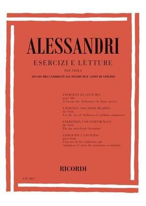 Alessandri: Esercizi e Letture