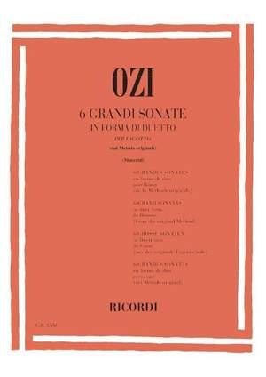 Ozi: 6 Grandi Sonate in Forme di Duetto