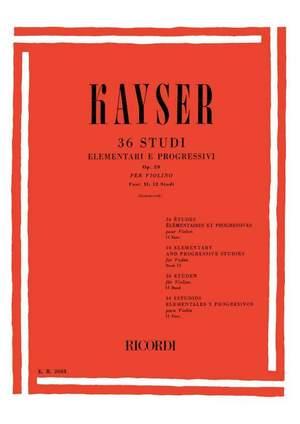 Kayser: 36 Studies Op.20, Vol.2 (ed. D.Zanettovich)