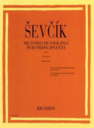 Sevcík: Metodo per Principianti Op.6, Vol.1