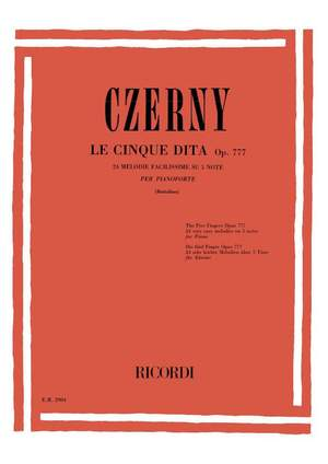 Czerny: Exercices sur cinq Notes Op.777 (Ricordi)