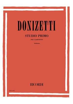 Donizetti: Etude 'Studio primo' (ed. G.Garbarino)