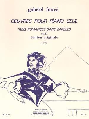 Gabriel Fauré: Romances Sans Paroles Op.17 No.3 In A Flat