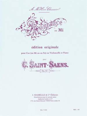 Camille Saint-Saëns: Romance Op.67 In E