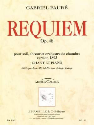 version 48 Gabriel Fauré chœur et orchestre de chambre op Requiem pour soli
