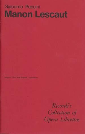 Puccini: Manon Lescaut (Italian & English text)