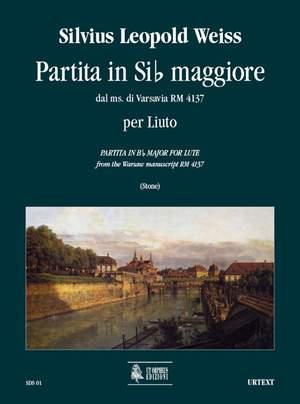 Weiss, S L: Partita in B flat major from the Warsaw manuscript RM 4137